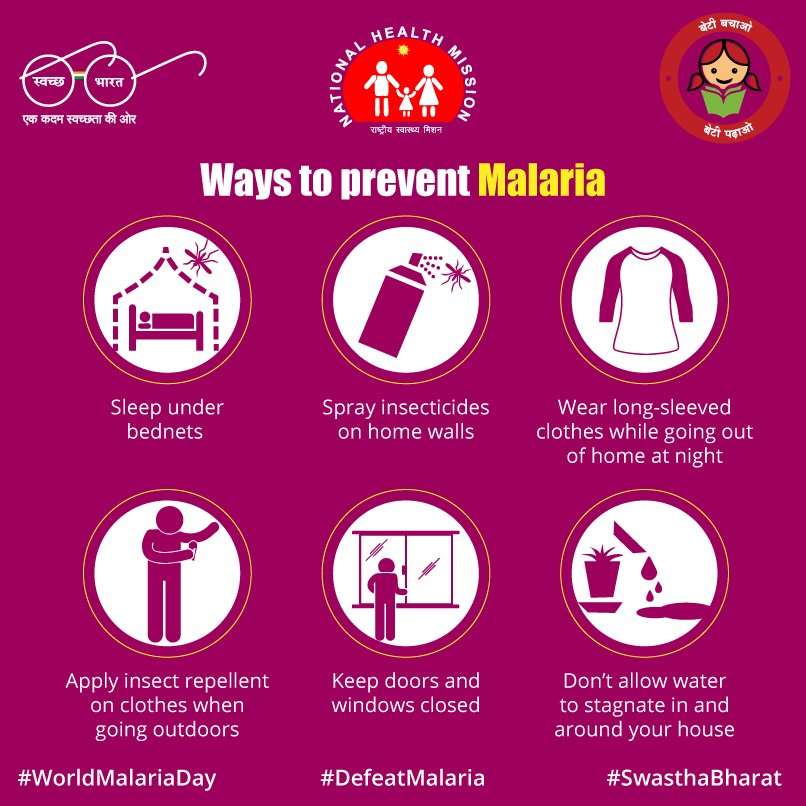 Here are easy-to-follow methods to #DefeatMalaria infection. #WorldMal...