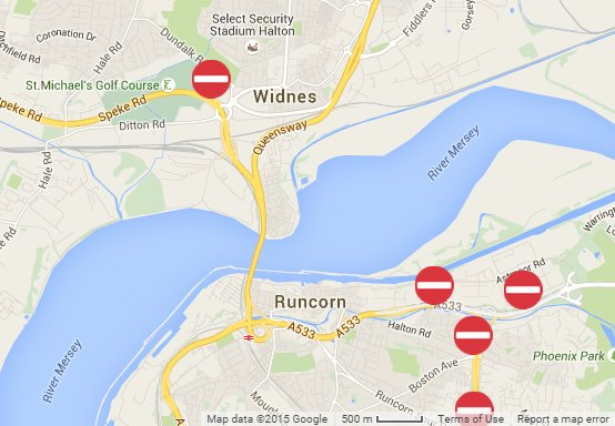 Mersey Gateway Map Mersey Gateway on Twitter: