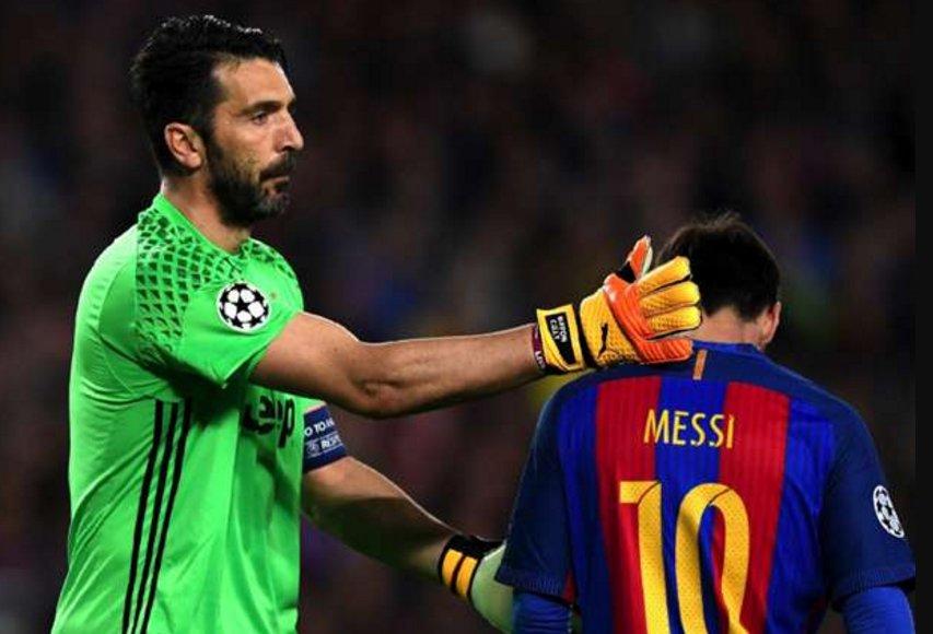 500 buts pour #Mess et 0 contre #Buffon  pic.twitter.com/S9nKxKO024
