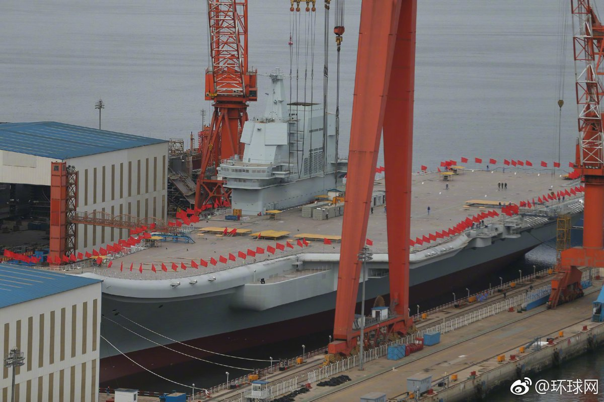Type 001A aircraft carrier is ready to launch