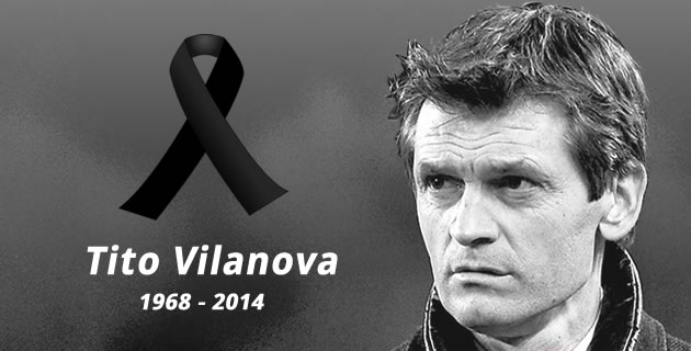 Three years ago today, Tito Vilanova passed away. An absolute gentleman cut down in his prime. D.E.P. https://t.co/Lb3ONu8BLC