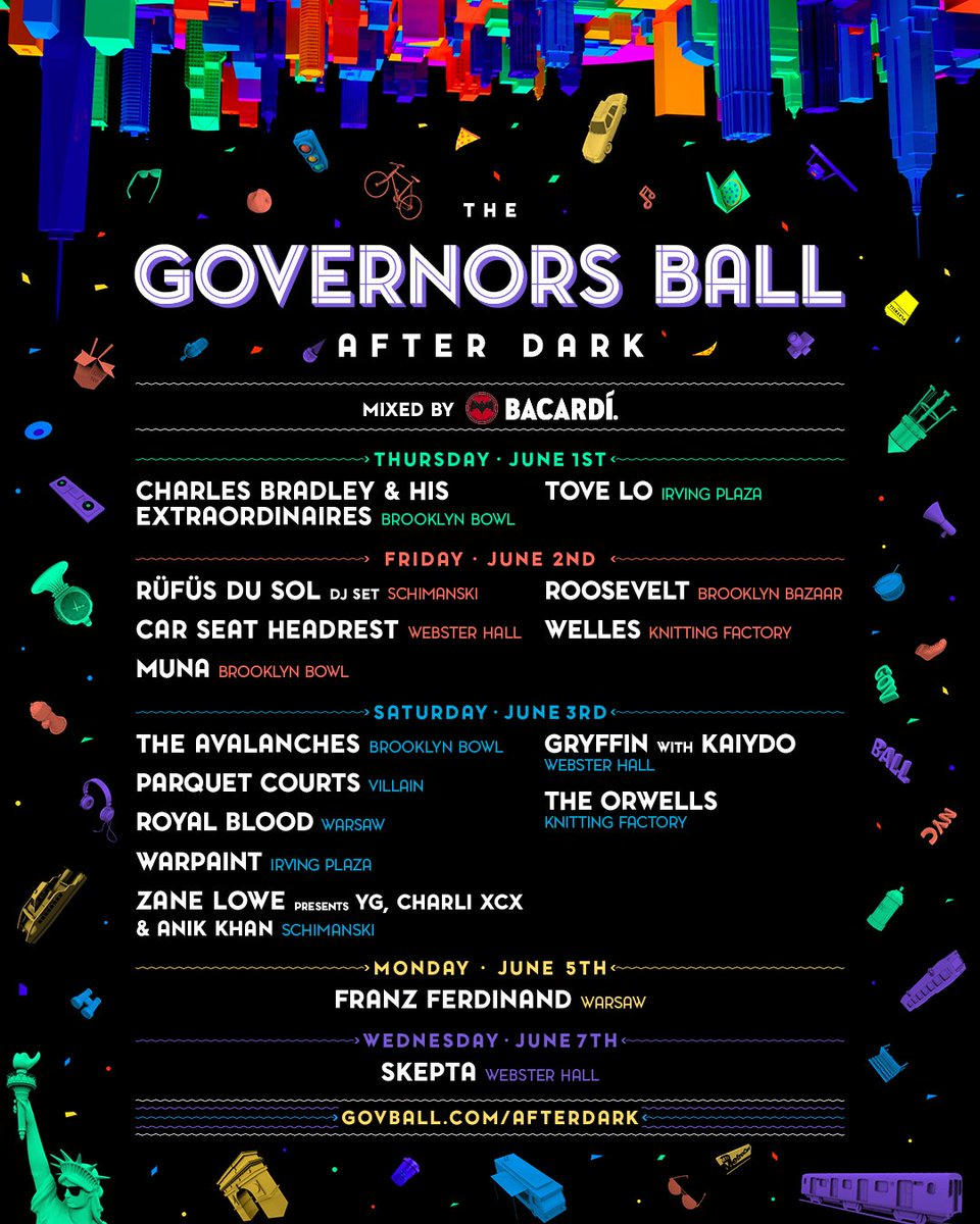 Gov Ball 2017 After Parties
