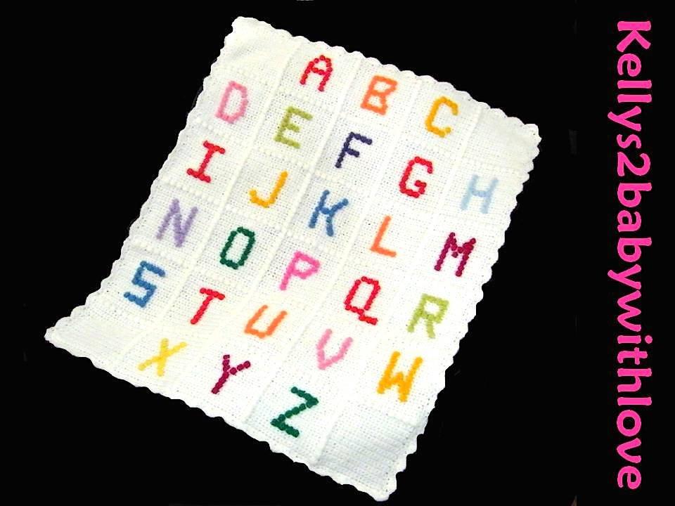 Handmade Multi-Coloured ABC Crochet Baby Cot Blanket - Nursery - Crib - …  http:// etsy.me/2jXV7W7  &nbsp;   #Blanket #Handmade<br>http://pic.twitter.com/ZhvJekQceK