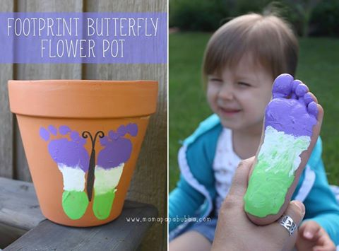 Footprint Butterfly Flower Pot