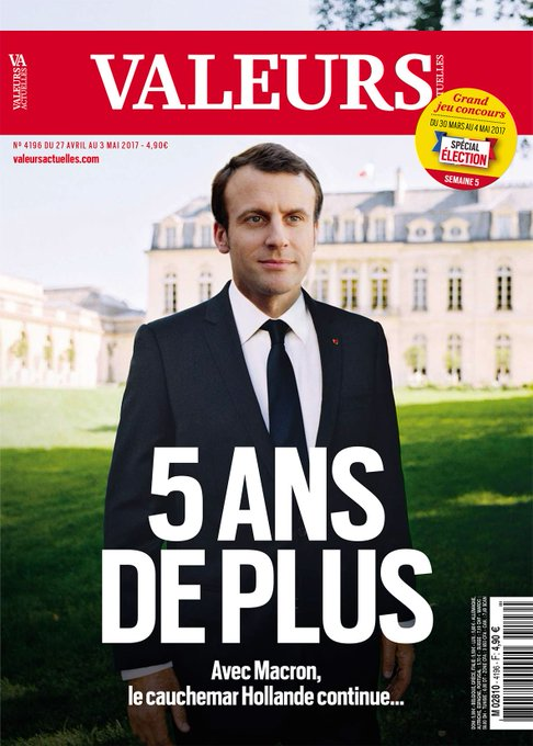 A la Une cette semaine : 5 ans de plus... Avec Macron, le cauchemar Hollande continue >> https://t.co/UWTFZc1FiJ