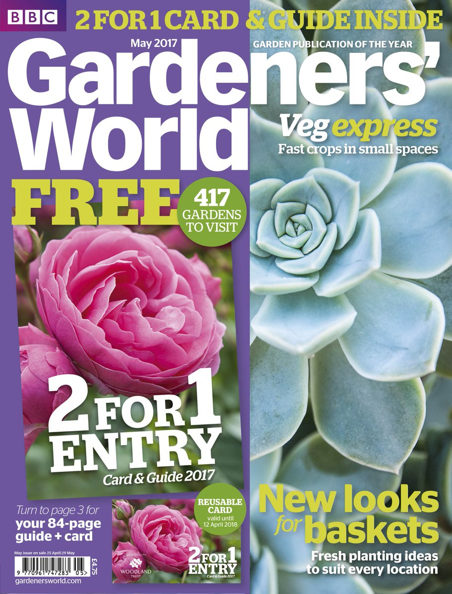 Look out for this year's 2for1 GardenstoVisit Guide FREE with the May issue. Visit 417 gardens nationwide. On sale now #GW2for1 #loseleypark