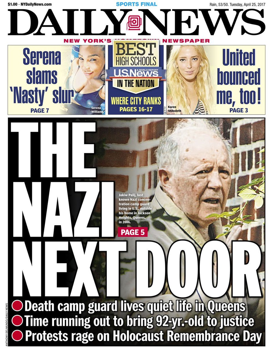 New York Daily News On Twitter Today S Front Page The Nazi Next