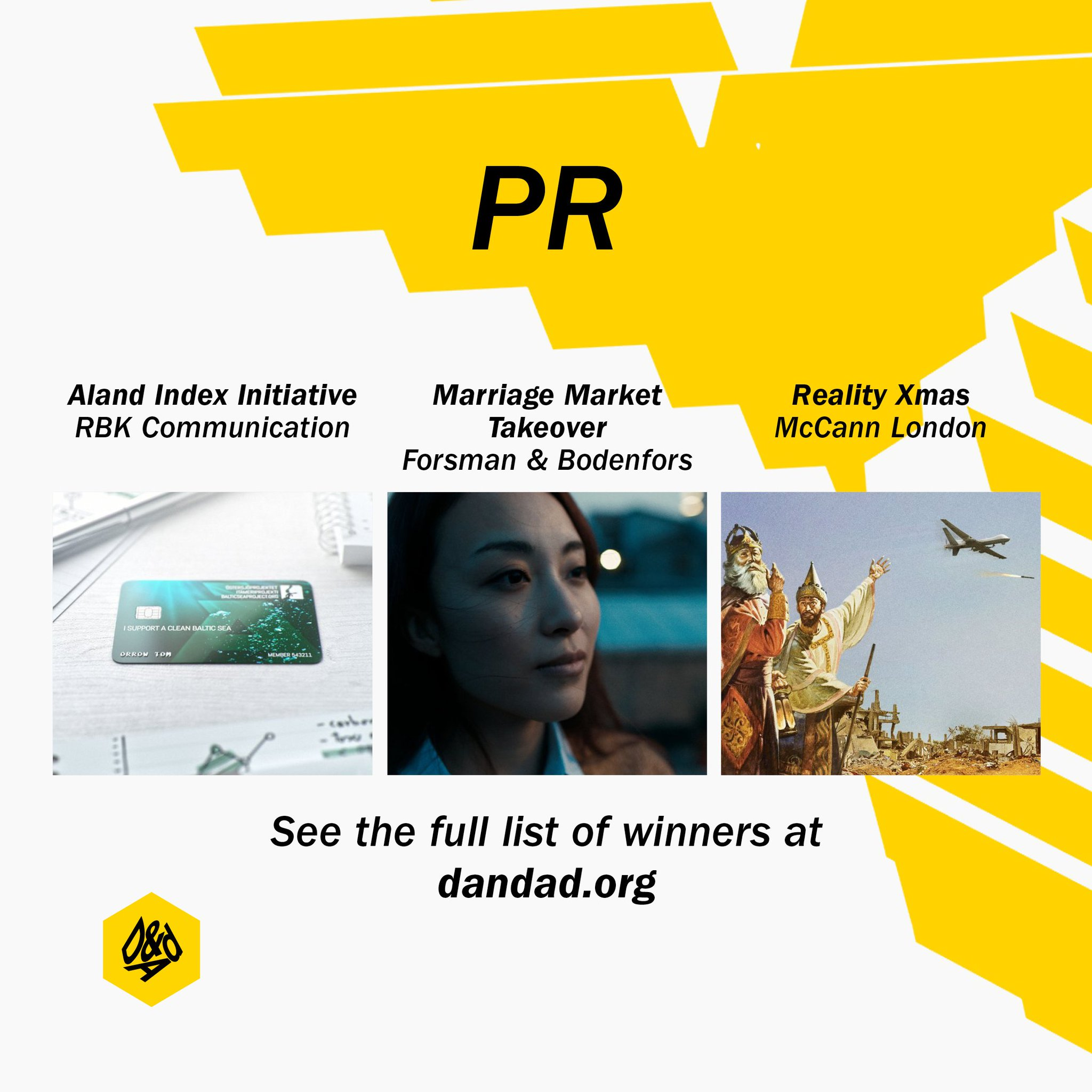 .@ForsBodenfors, @mccannlondon & @RBKcom  join our #DandAD17 #PR winners: https://t.co/1wpA5aVP8c https://t.co/85xrsOyZd6
