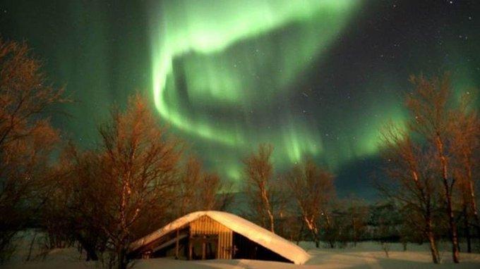 O fenômeno da coluna de luz violeta flagrado pela 1ª vez nos céus do Canadá https://t.co/k2YVkWjQNn #G1