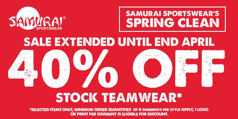 test Twitter Media - Get the best quality teamwear at 40% off! Find out more here >> https://t.co/l5eIayA9Tx #SamuraiFamiy #sale https://t.co/p7sDjn70ev