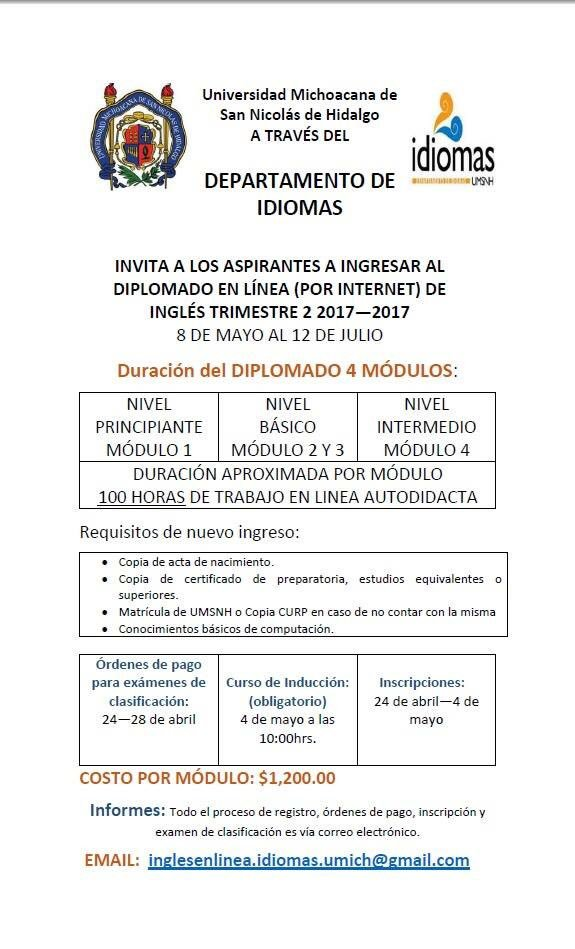 Idiomas Umsnh On Twitter Umsnh Inglesenlinea