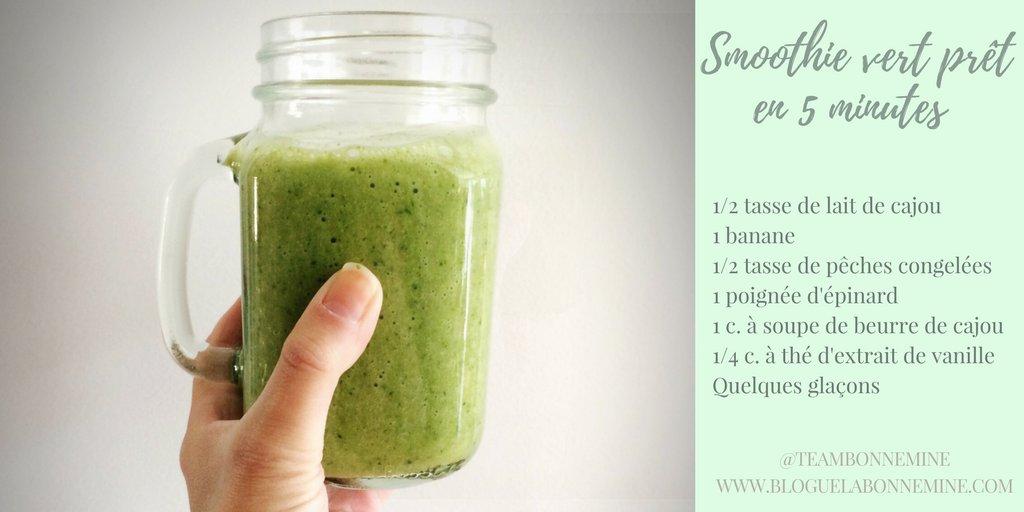 Rapide, simple et exquis!  #smoothievert #déjeuner #mangesdesplantes #recettesimple #végétarisme #blog #mtlblog #guérison # nutrition<br>http://pic.twitter.com/Sblg82SB2c