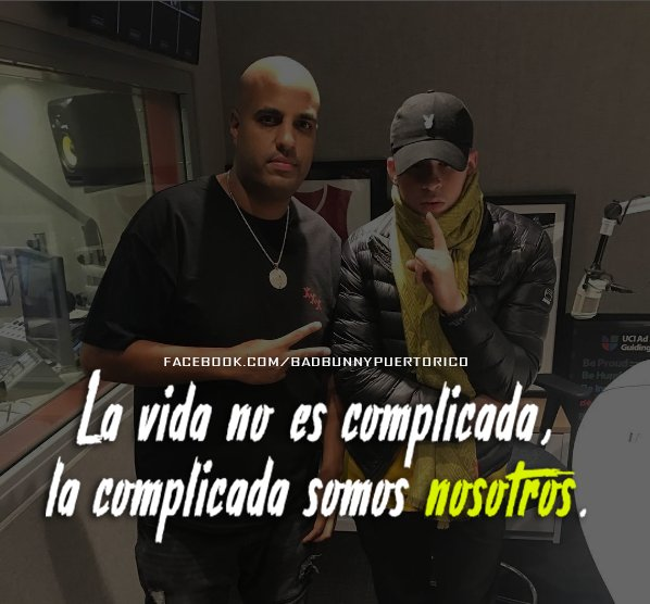 Bad Bunny Frases On Twitter