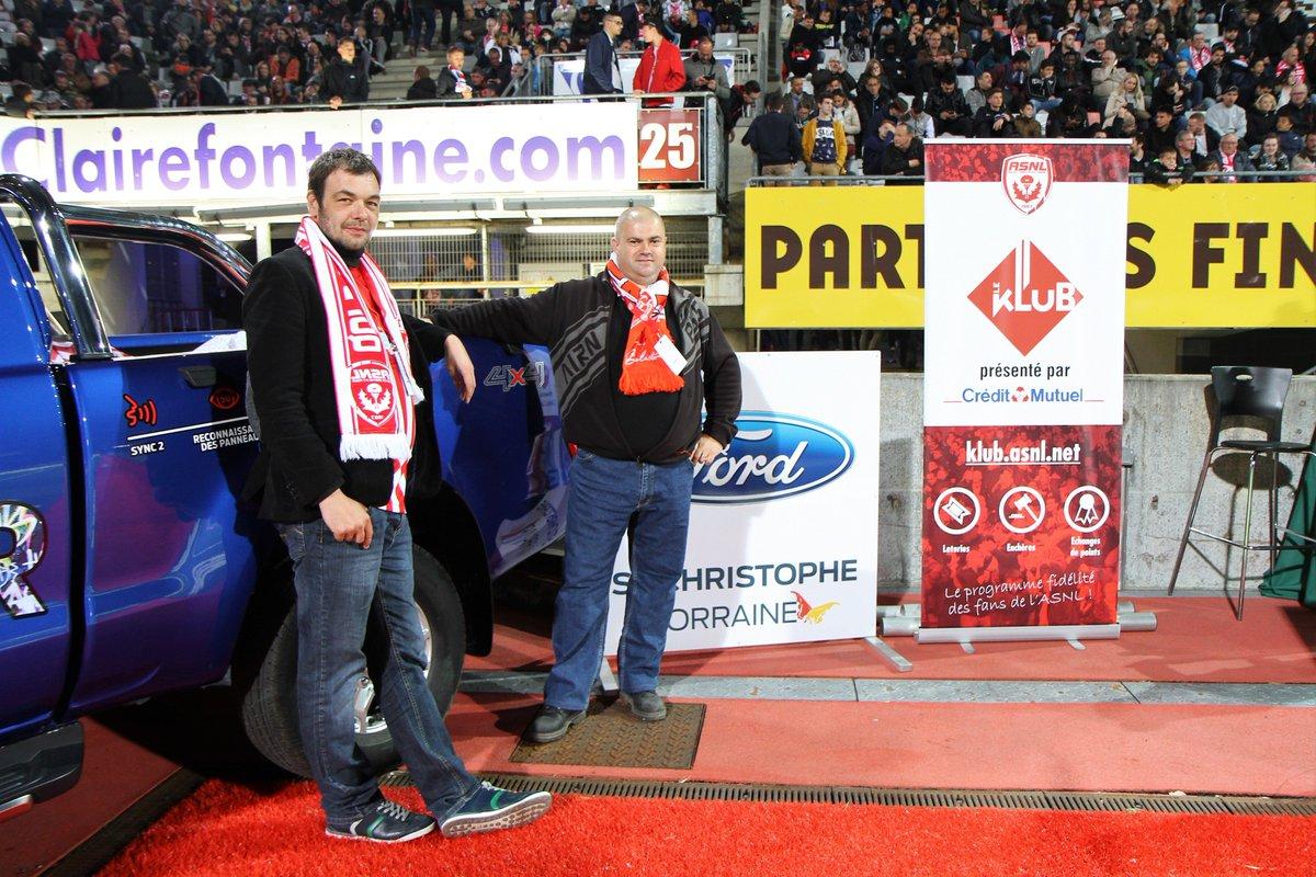 Quelques  de la soirée extraordinaire vécue par Stéphane et Nicolas lors du match #ASNLOM #FIDELITE #FORD    http:// klub.asnl.net    pic.twitter.com/ORVoA2vdGS