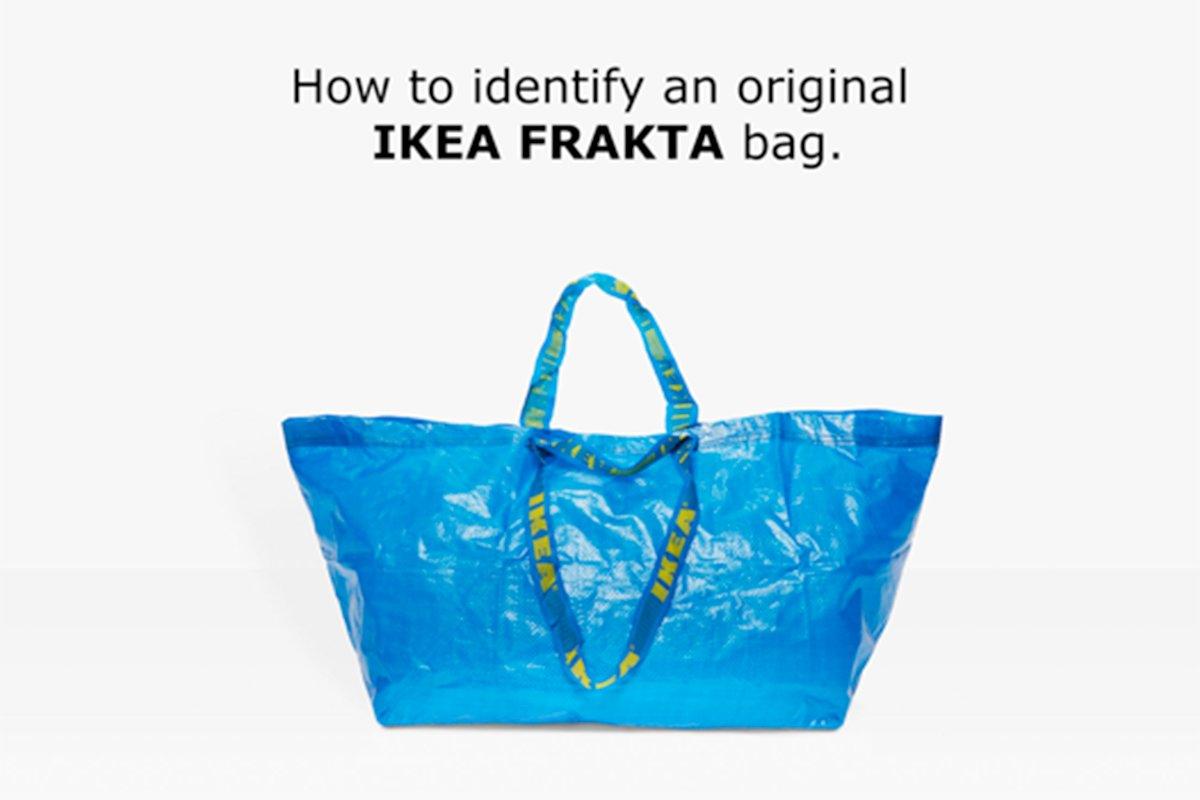 Creativity Pick: Ikea responds to @Balenciaga's copycat move. https://t.co/TT5f9gaw33 https://t.co/DsFkRXnPIj