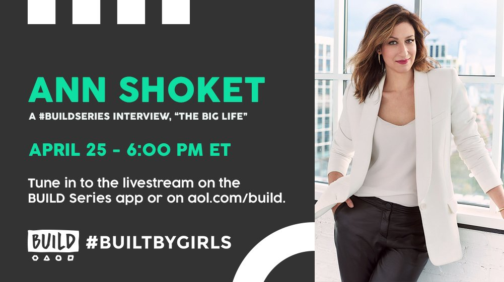 At 6PM ET: we'll be talking with @annshoket live on https://t.co/pnxvI...