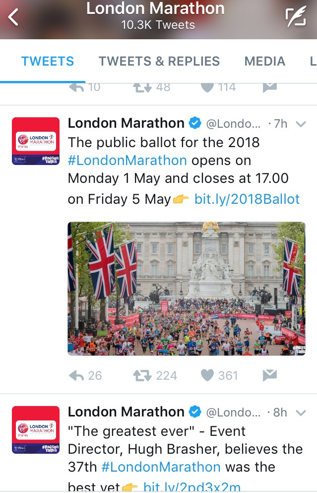 .@swilkinsonbc of @WMPSC showing the #Palestine flag to 10k+ runners at finish 4 @ALQadiPAL  #LondonMarathon #Run4Palestine &amp; #TeamSense<br>http://pic.twitter.com/e3CudiBAUf