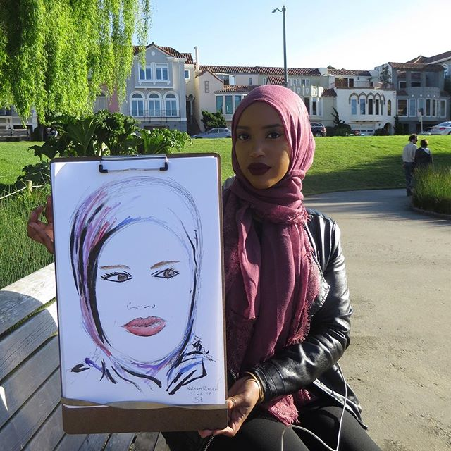 Another study #portrait #lineart #facedrawing #sanfranciscoartist #californiaart #sketching #sketch #hijab #hijabstyle #sunnyday #drawing #i<br>http://pic.twitter.com/lfYgFmKT0I