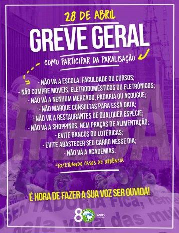 Nossa voz precisa ser ouvida! Não nos calaremos, participe VOCÊ também dia 28 de abril! #28A #grevegeral #NenhumDireitoaMenos