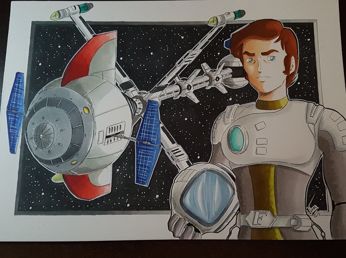 Wip &quot;capitaine flam&quot; #capitaineflam #captainfuture #toeianimation #nhk #serieanimee #wip #wipanime #artwork  #artistfrench #graphitmarker<br>http://pic.twitter.com/p950K5VlKl