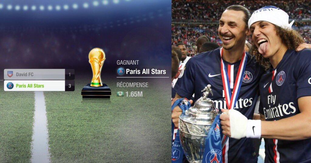 Paris All Stars / Ligue 5 gagne la coupe apres une finale maîtrisée de bout en bout / Bravo ! @topeleven #psg #zlatan @DavidLuiz_4pic.twitter.com/zU6Tfnyg8N