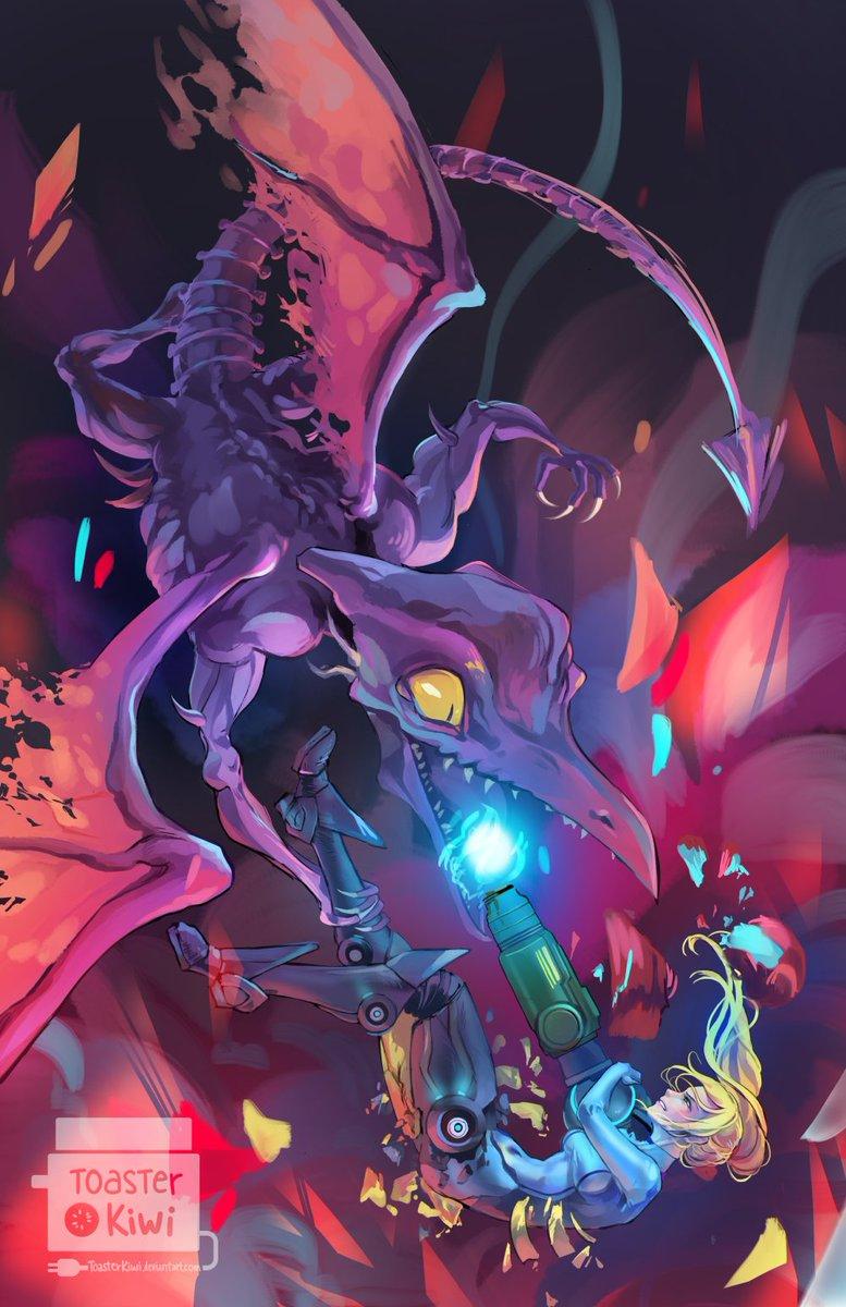 Metroid Database On Twitter Samus And Ridley By Toasterkiwi Https T Co Bi1jenxwu9 Metroid Metroid31