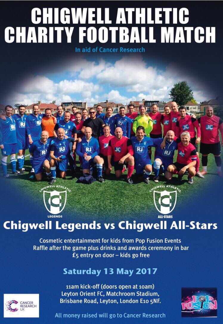 Good luck to @Slates11 and @chigwellath raising money for a great cause! https://t.co/9HyVatoX4x