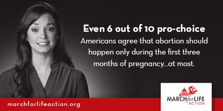 Even 6 out of 10 pro-choice Americans would limit #abortion to the first 3 months of pregnancy. https://t.co/r8jgIh2lm3  #prolife https://t.co/hJP4q157nF