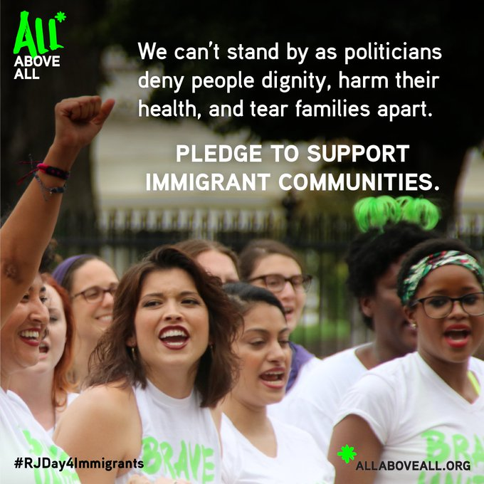 Want to learn how immigrant rights intersect with #reprojustice? Follow the #RJDay4Immigrants Tweet Chat at 2 pm ET.