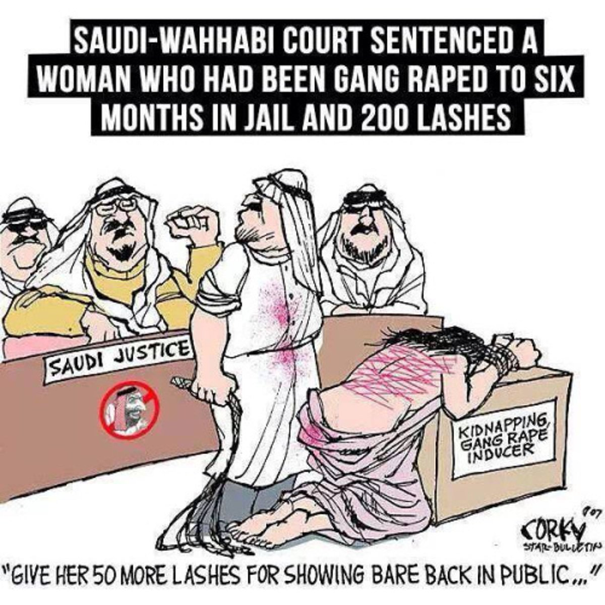 Image result for Saudi JAIL CARTOON