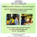 Open #enrollment--  @SVSFCenter children's #summer academic program.  Interested? Contact Melissa.Gush@svsfcenter.org or 313-535-9200 x3117.