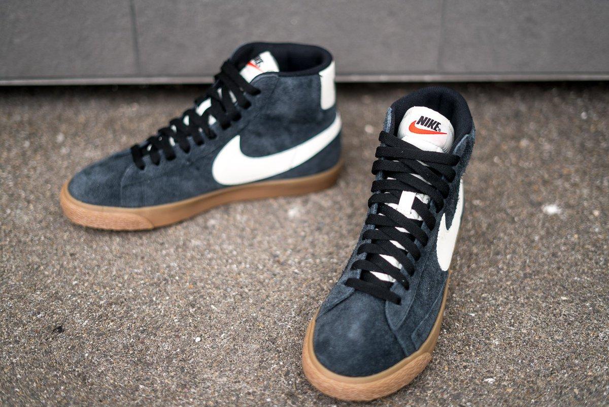aa260840f441e Nike Wmns Blazer Mid Suede Vintage Black Sail Gum Link ->  http://stealbruch.de/nike-wmns-blazer-mid-suede-vintage-black-sail-gum …