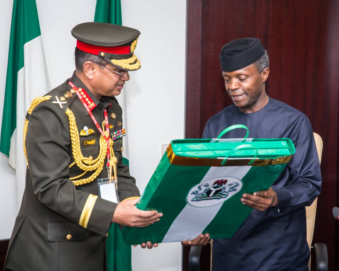 Osinbajo renewed call for int'l collabo aimed at tackling the menace of terrorism, saying that Nigeria will continue to cooperate in the global fight.