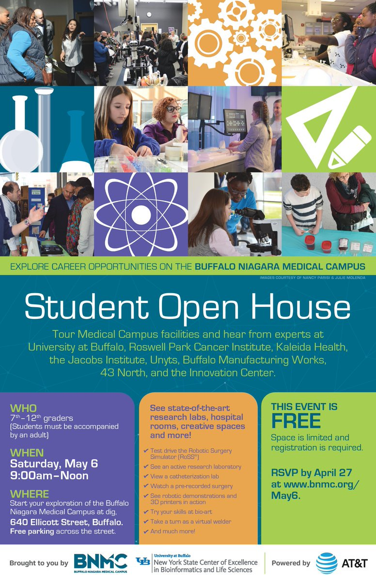 Join @yroswell on May 6 for the @BNMC Student Open House! You'll even have a chance to visit @TheATLASProgram lab: https://t.co/LGNkORJBxt