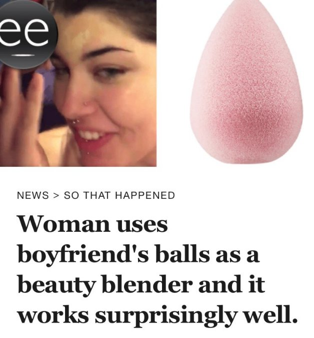 I don't know what the big deal is, I've been applying my makeup with balls for years. https://t.co/ZxpgztCEkB
