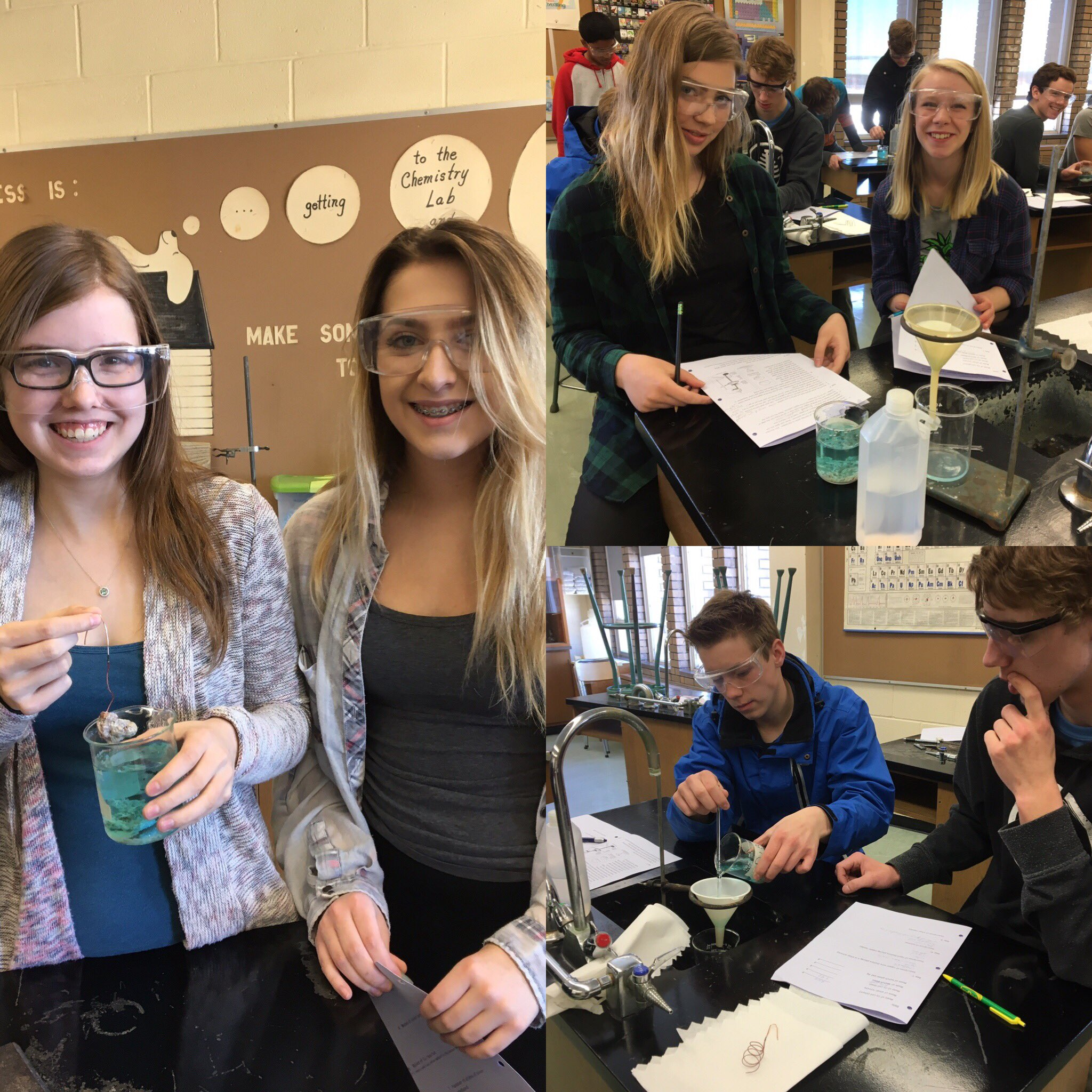 PSC 20 learning how to carry out a filtration! Is it copper 1+ or copper 2+? We'll let you know tomorrow once we're done our analysis! #yrhs https://t.co/QpOALEoPGV