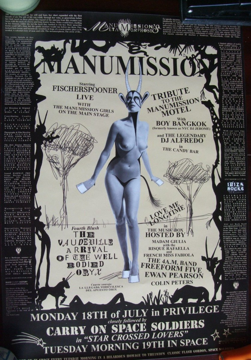 9 rare #Manumission Metamorphosis #DanceMusic posters for sale at  http://www. ebay.co.uk/itm/-/16248764 3597?roken=cUgayN &nbsp; …  featuring #IbizaDJs &amp; #Fatboyslim - end Sunday<br>http://pic.twitter.com/ZSzzBJKND1