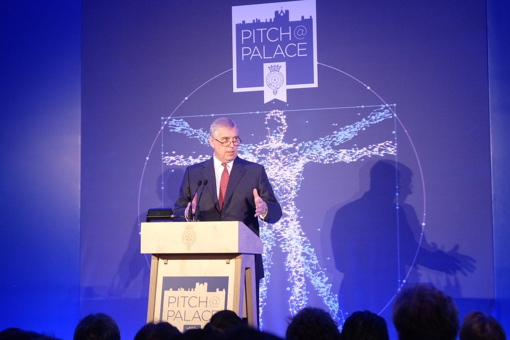 .@TheDukeOfYork welcomes guests and finalists to #PitchAtPalace at St...