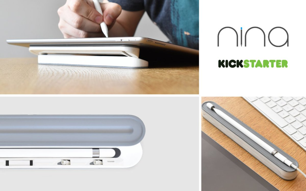 Nina, your Apple pencil &amp; iPad Pro companion also transforms into a low angle iPad support.  http:// buff.ly/2q0MJcT  &nbsp;   #iPad #tech #apple <br>http://pic.twitter.com/07kI9Fq1LB
