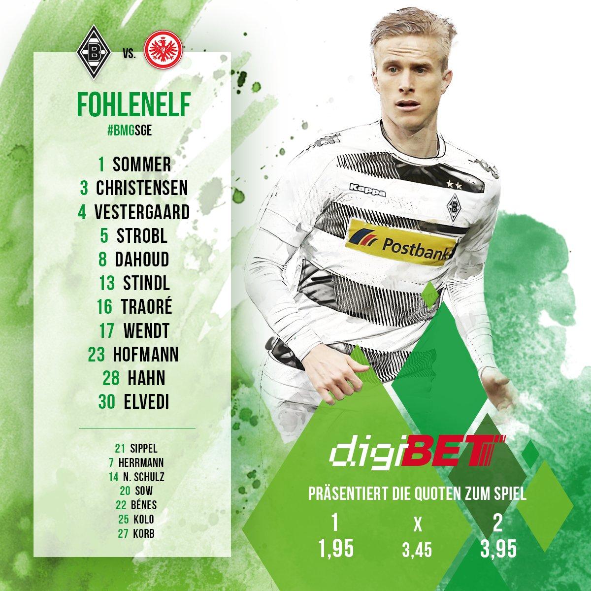 Mit dieser Elf startet Borussia ins Halbfinale des @DFB_Pokal gegen di...