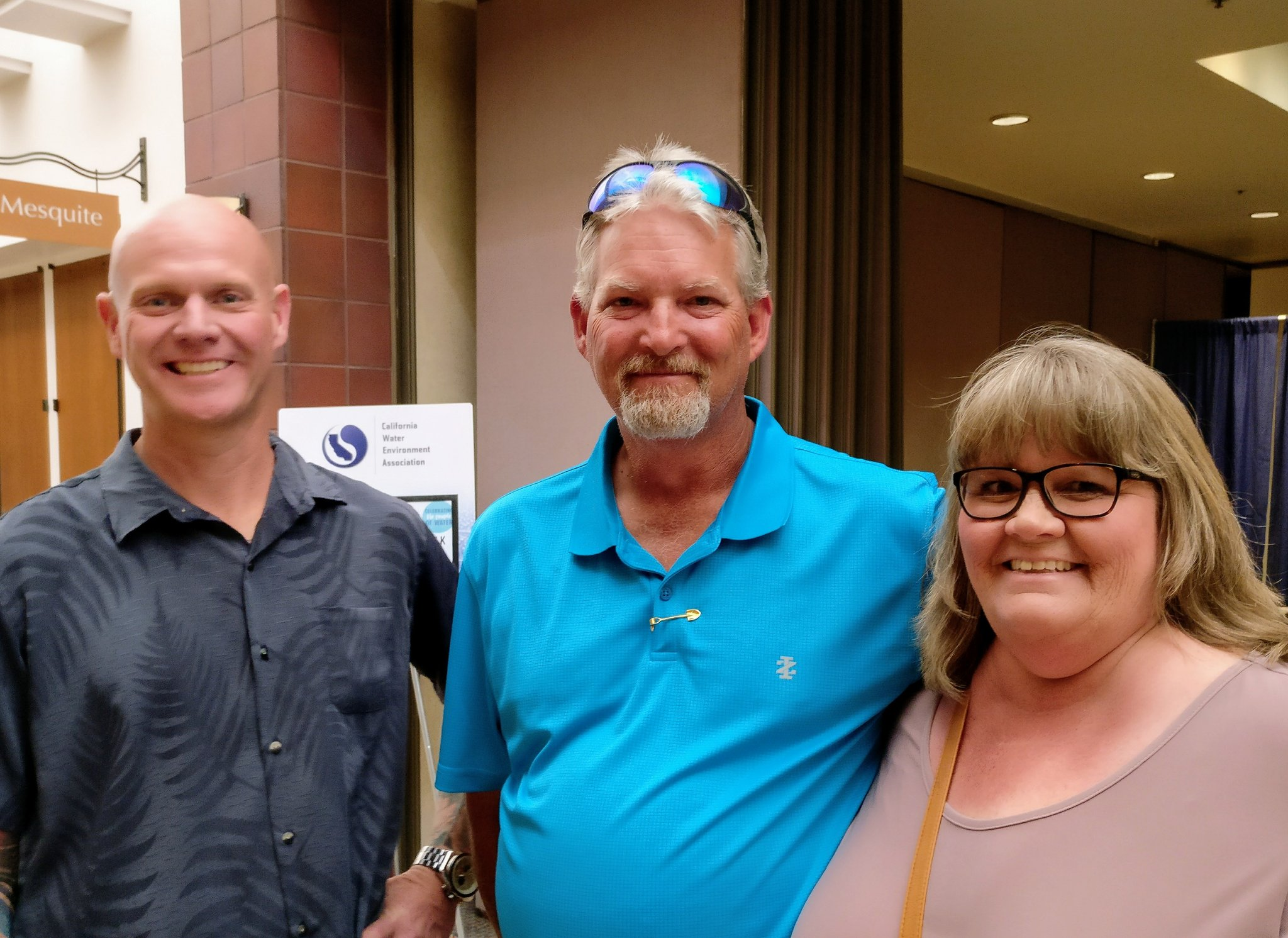 John, Lee & Sheri at #CWEAAC. Sheri's father spent 36 yrs as a wastewater operator & was a founder of the @tristateseminar #Mywaterlegacy https://t.co/H2lhTnVeH8