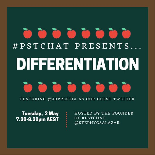 Thumbnail for #pstchat on Differentiation
