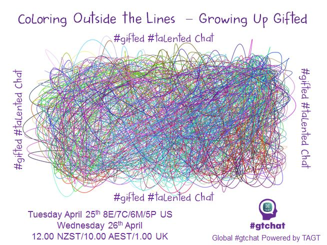 Thumbnail for #gtchat: Coloring Outside the Lines – Growing Up Gifted