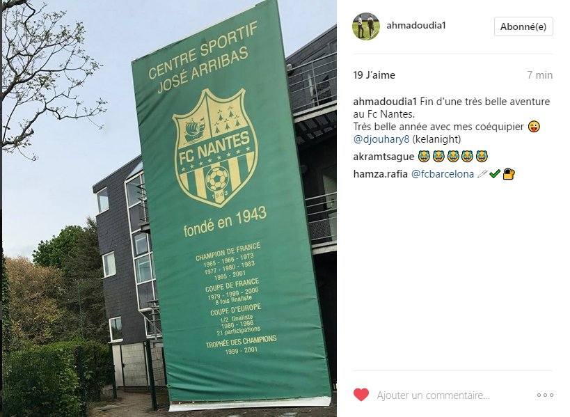 Ahmadou Dia (u19) quitte le #FCNantes après une saison. pic.twitter.com/OA8xhZ9sRX