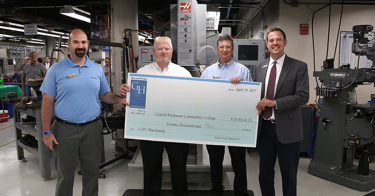 Gene Haas Foundation grant will assist #CPCC machining students https://t.co/0mowtYpmhT https://t.co/EhTjAt9BF8