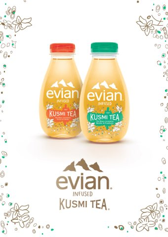 Image result for kusmi and evian