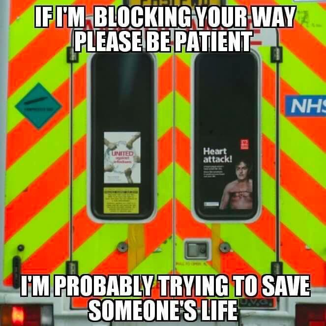 Couldn&#39;t of put it any better!   #Ambulance #JustSaying <br>http://pic.twitter.com/FWKyDg1VKV