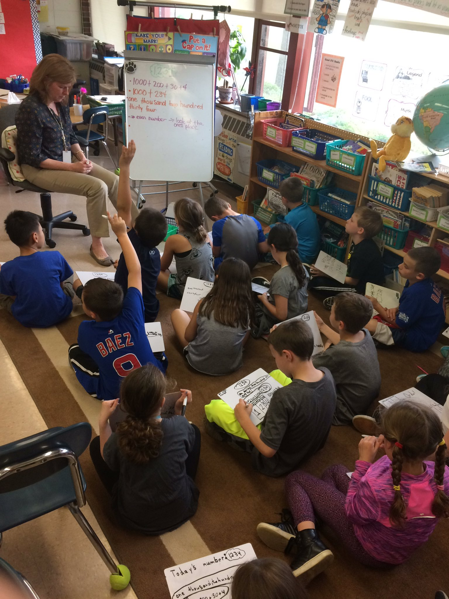 @m_ddoherty 's 3rd grade mathematicians share their thinking with the Today's number routine! #engage109 #sp109 https://t.co/3StLJMBkgR