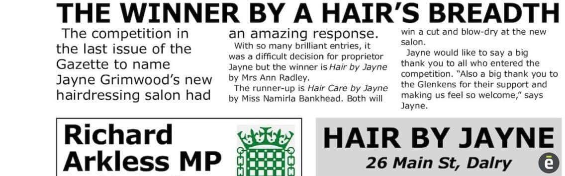 It's a hairdressing salon and it's run by Jayne, and you have to think of a name for it https://t.co/aq2bwM8tNc (via @carolhill643)