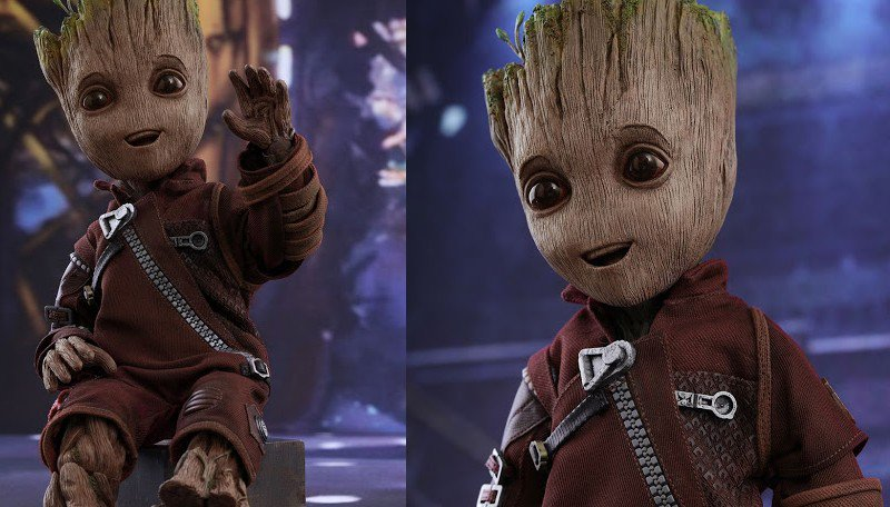 Hot Toys lança boneco do Baby Groot em tamanho real!  https://t.co/1oe...
